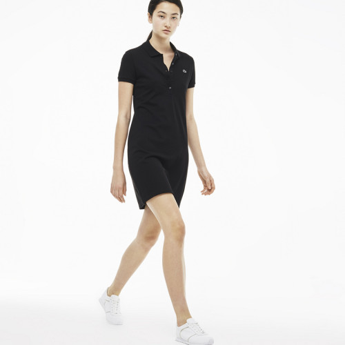 Women's Stretch Cotton Mini Piqué Polo Dress L002