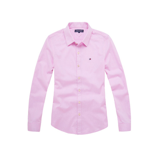 Women's Classics Long Sleeve Pink Shirt