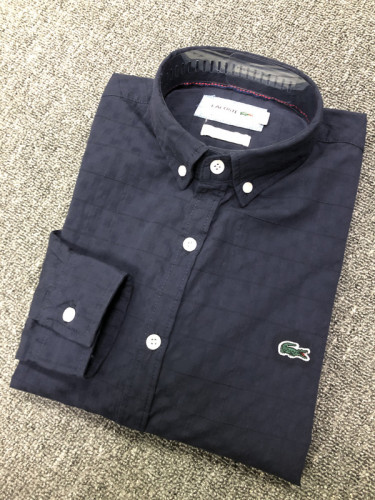 Men's Classics Long Sleeve Navy Plaid Shirt
