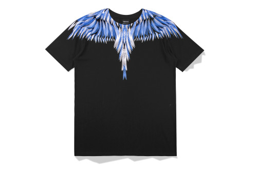 2020 Summer Fashion T-shirt Black+ Blue