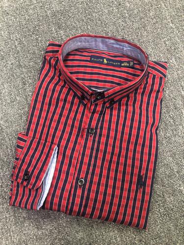 Men's Classics Long Sleeve Red Plaid Shirt