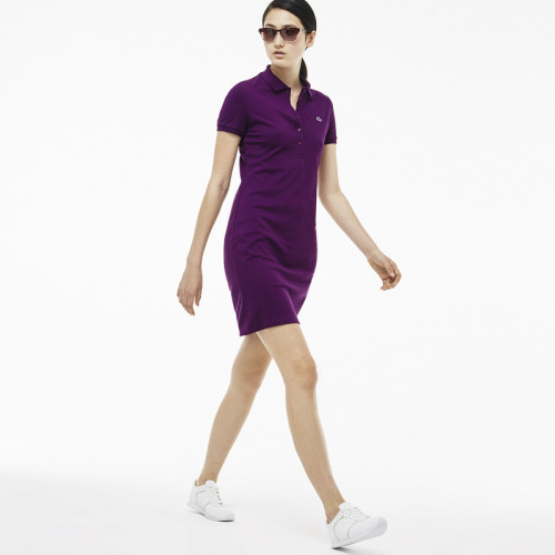 Women's Stretch Cotton Mini Piqué Polo Dress L001