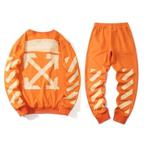 2020 Summer Fashion Sweater & Pants Suits Orange