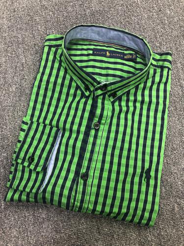 Men's Classics Long Sleeve Green Plaid Shirt