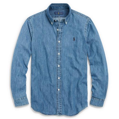 Men's Classics Long Sleeve Dark Blue Shirt
