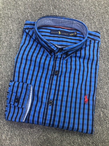Men's Classics Long Sleeve Blue Plaid Shirt