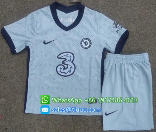 Chelsea 20/21 Kids Away Soccer Jersey and Short Kit