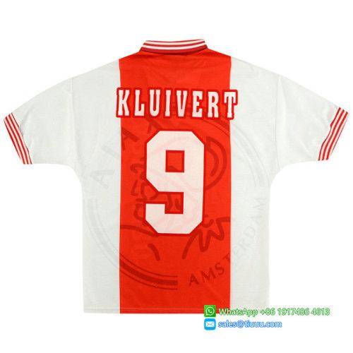 Ajax 1995/96 Home Retro Jersey #9 Kluivert