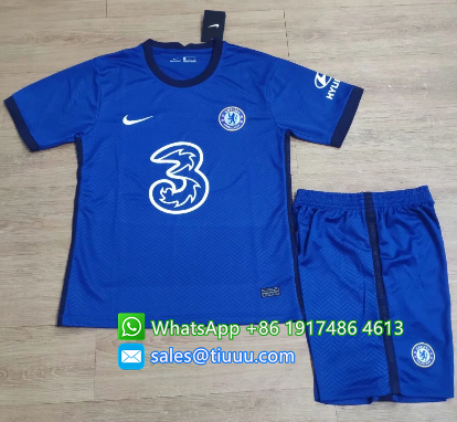 Chelsea 20/21 Home Soccer Jersey and Short Kit
