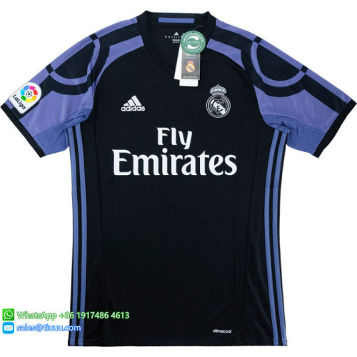 Real Madrid 2016/17 Third Retro Jersey #11 Bale