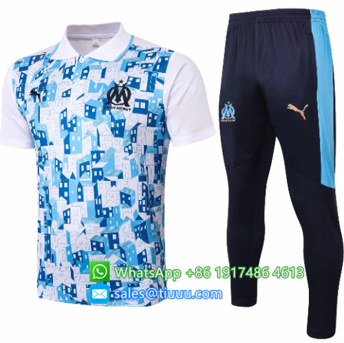 Olympique Marseille 20/21 Polo and Pants - C522