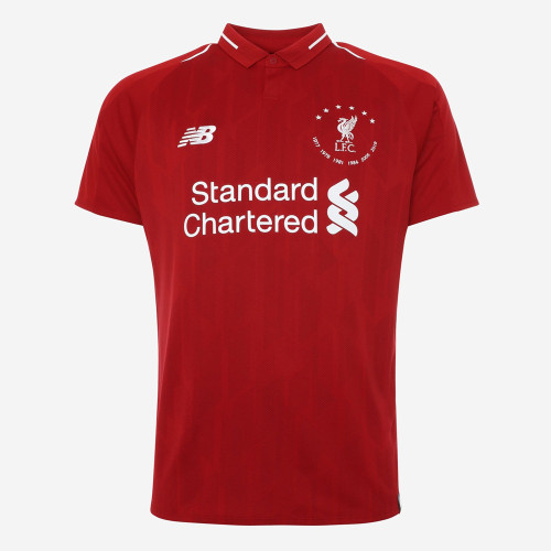 Liverpool 2018/19 Home 6 Times Champion Jersey