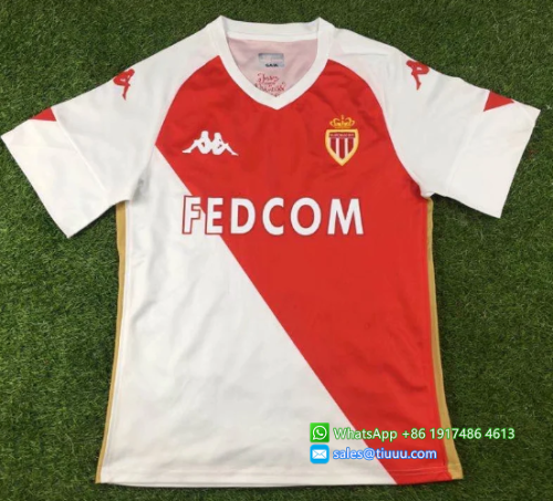 Thai Version AS Monaco 20/21 Home Soccer Jersey