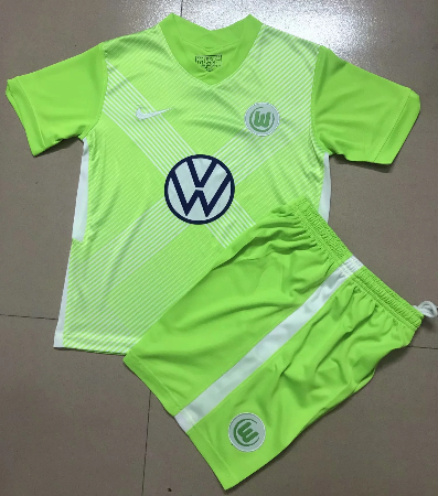 Wolfsburg 20/21 Home Soccer Jersey and Short Kit