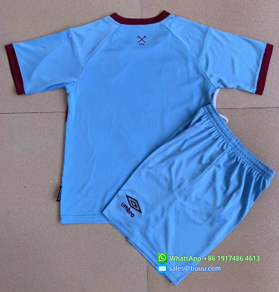 West Ham United 20/21 Kids Away Soccer Jersey and Short Kit