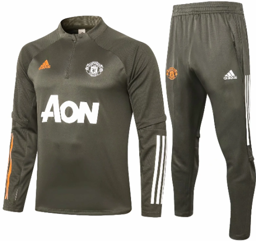 Manchester United 20/21 Soccer Training Top and Pants-B413