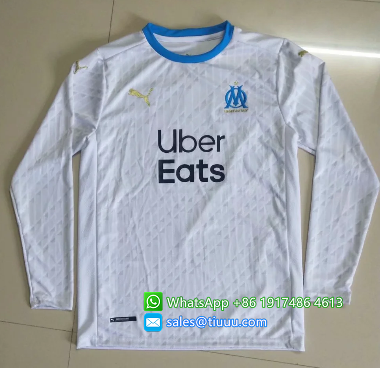 Thai Version Olympique Marseille 20/21 Home LS Soccer Jersey