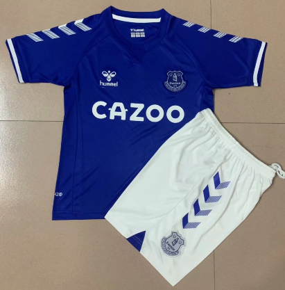 Everton 20/21 Home Soccer Jersey and Short Kit