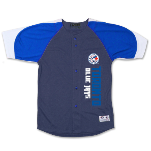 Youth Toronto Blue Jays Stitches Navy Royal Vertical Jersey