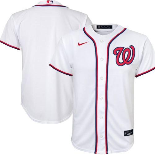 Youth Washington Nationals White Home 2020 Replica Team Jersey