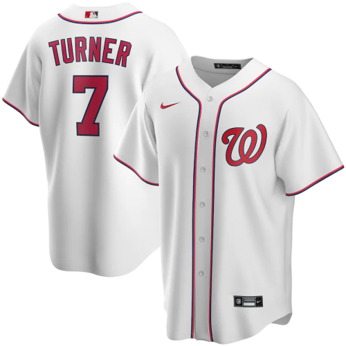 Youth Washington Nationals Trea Turner White Home 2020 Replica Player Jersey