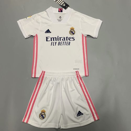 Real Madrid 20/21 Kids Home Soccer Jersey and Short Kit