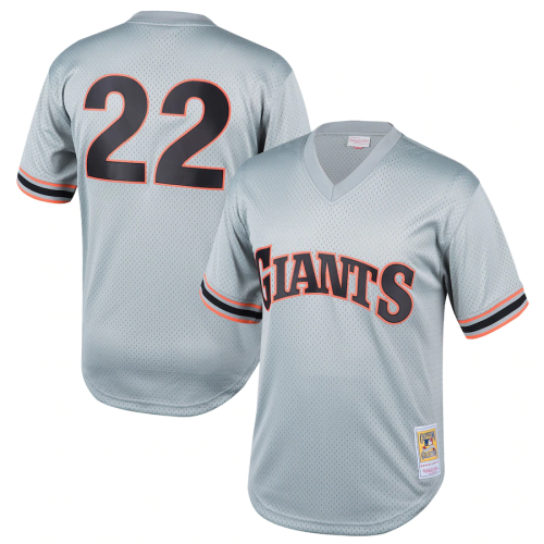 Youth San Francisco Giants Will Clark Throwback Gray Cooperstown Collection Mesh Batting Practice Jersey