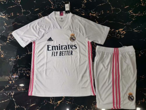 Real Madrid 20/21 Home Soccer Jersey and Short Kit