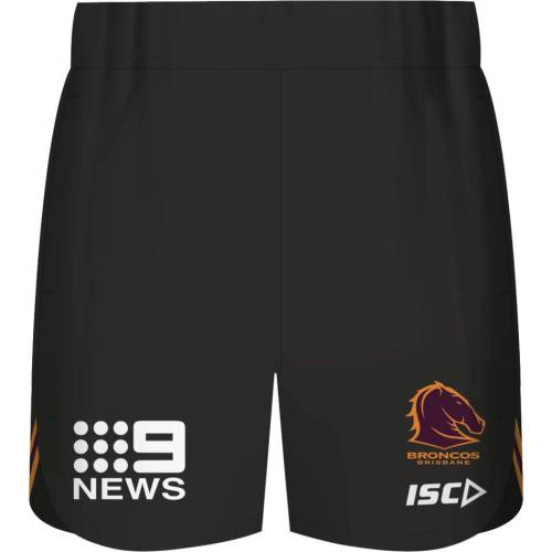 Brisbane Broncos 2020 Men's Black Rugby Training Shorts
