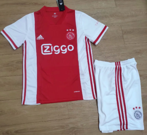 Ajax 20/21 Home Soccer Jersey and Short Kit