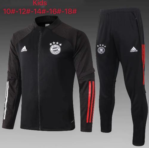 Bayern Munich 20/21 Kids Jacket and Pants Black -E474