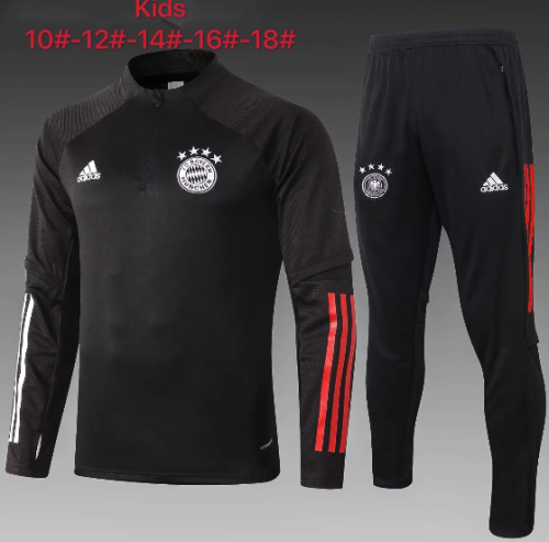 Bayern Munich 20/21 Kids Soccer Top and Pants Black - E465