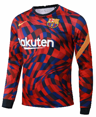Thai Version Barcelona 20/21 LS Training Jersey-Red