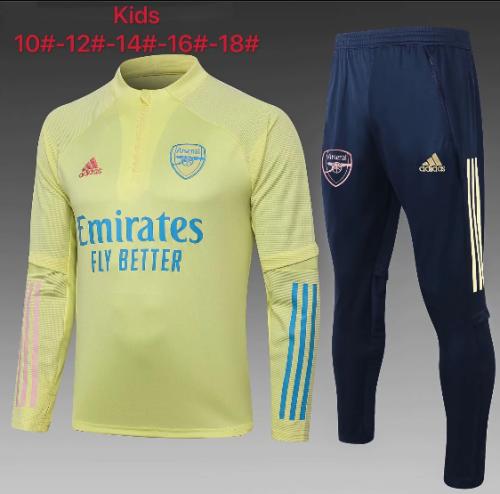 Arsenal 20/21 Kids Soccer Top and Pants Yellow-E468