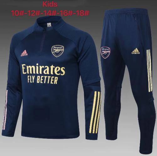 Arsenal 20/21 Kids Soccer Top and Pants Navy-E481