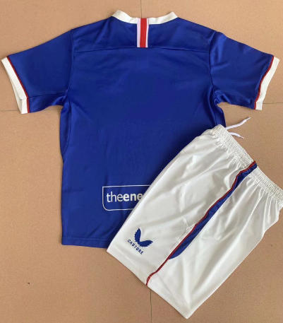 Rangers 20/21 Kids Home Soccer Jersey and Short Kit