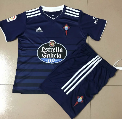 Celta 20/21 Kid's Away Soccer Jersey and Short Kit