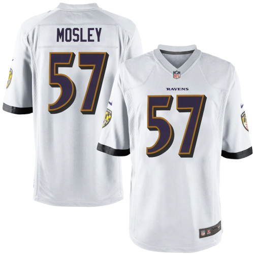 Mens C.J. Mosley  White Game Team Jersey