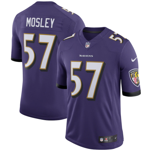 Men's C.J. Mosley Purple Speed Machine Limited Player Team Jersey