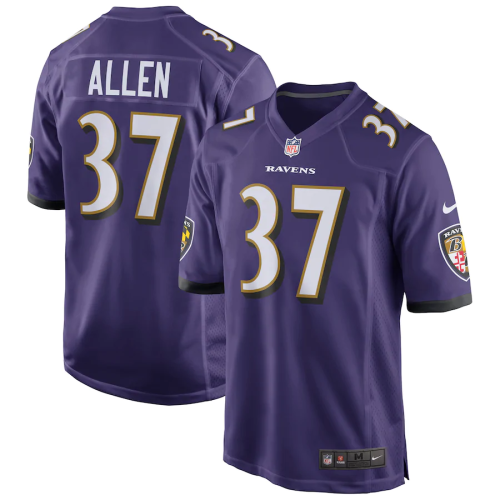 Men's Javorius Allen Purple Game Team Jersey