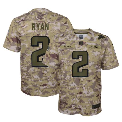 Youth Matt Ryan Camo Salute to Service Game Team Jersey