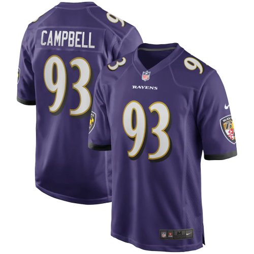Men's Calais Campbell Purple Game Player Team Jersey