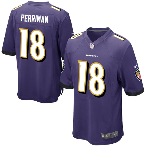 Men's Breshad Perriman Purple Game Team Jersey