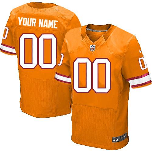 Men's Custom Orange Alternate Elite Team Jersey