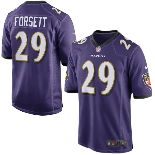 Men's Justin Forsett Purple Game Team Jersey
