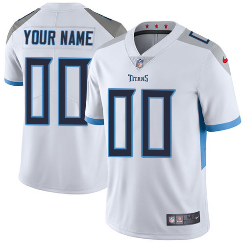 Men's White Customized Limited Team Jersey