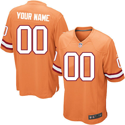 Men's Custom Orange Alternate Limited Team Jersey