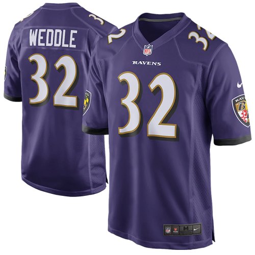 Men's Eric Weddle Purple Game Team Jersey