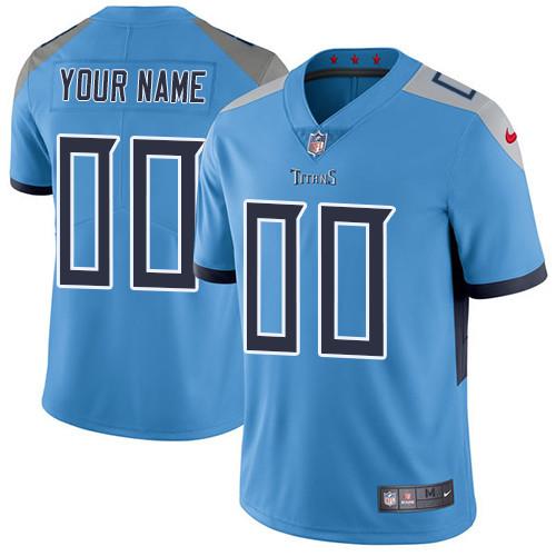 Men's Light Blue Custom Limited Team Jersey