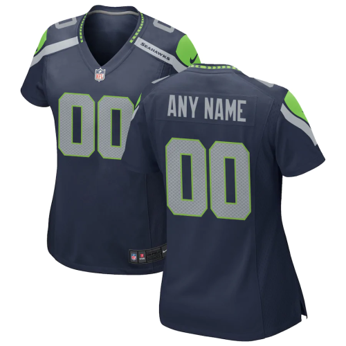 Women's College Navy Customized Game Team Jersey